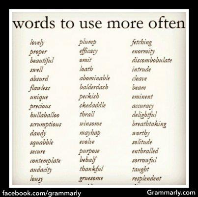 words to use