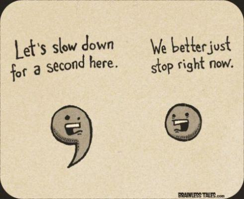 comma and period