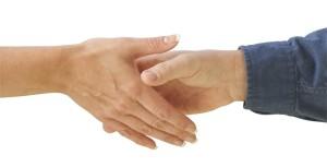 handshake man and woman