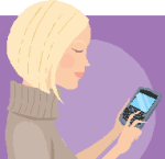 woman and cell phone